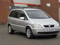 2005/55 Vauxhall Zafira 1.6l petrol, 7 seater, 12 months mot, HPI Clear, only 82000, service history