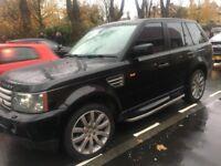 2007 Land Rover Range Rover Sport 3.6 TD V8 HSE 5dr black with l