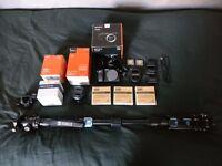 Sony Alpha A6300 Camera + Lenses + SD Cards + Monopod + More