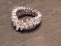 4.75 carat diamond platinum eternity wedding ring