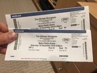 Ultimate Strongman Newcastle VIP tickets x2