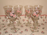 Twisted stem wine glass set
