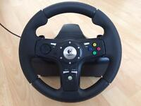 Logitech DriveFx steering wheel Pc/Xbox with Force Feedback