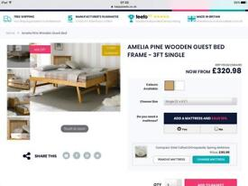 Amelia Wooden Bed with Guest Bed underneath