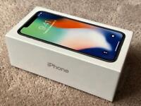 IPHONE X 64gb SILVER, FACTORY UNLOCKED, BRAND NEW IN SEALED BOX, 1 YEAR APPLE WARRANTY rrp £999