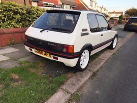 Peugeot 205 gti 1.6 with 1.9 converion