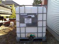 Ibc 1000ltr water tank