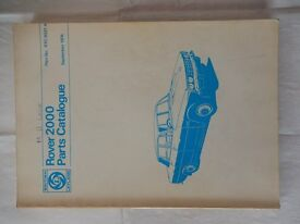 Rover 2000 P6 Works Parts Catalogue (RTC 9021A)