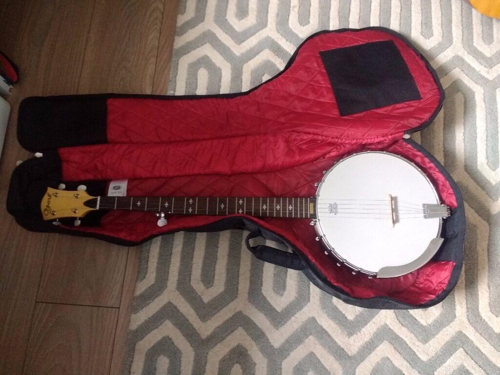 Ozark 2109G 5 String Open Back Banjo With