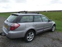 Subaru outback diesel estate, leather heated seats, sunroof, satnav.