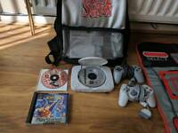 Ps one 4 games, dance mat and bag