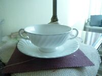 Bone China (White) Soup Terrines with Saucers, Tea Cups/Saucers, Coffe Cups /Saucers