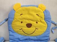 Winnie the Pooh high chair padded seat cushion