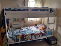 Good condition, one year old, bunk bed, frame only. 90 pound