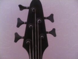 BASS GUITAR WESTFIELD 5 STRING BASS GUITAR. EXCELLENT CONDITION. WITH BAG. .