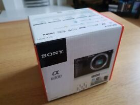 Like New! Sony A6000 Body Silver! Boxed with all accessories! Warranty!