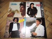 Michael Jackson Collection of LP Vinyl Records In Excellent Condition- Bad - Thriller - Off the wall