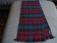 Gents ot ladies green and red scarf, similar to Lindsay tartan