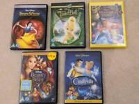 5 children's Disney classics DVD's