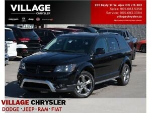 2017 Dodge Journey Crossroad|AWD|Leather|Sunroof|DVD|Nav|7Seater