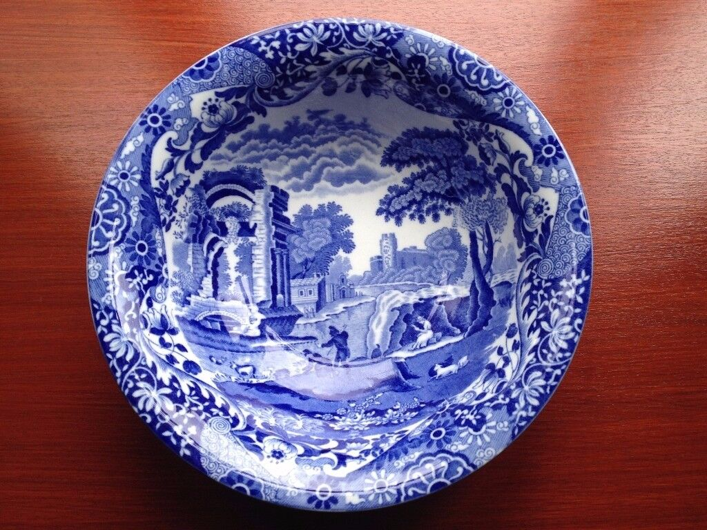 Copeland- Spode Italian Blue Scene Bowl