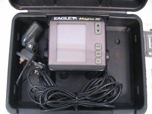 Eagle Magna Iii 3 Fish Depth Finder Fishfinder Head W Case