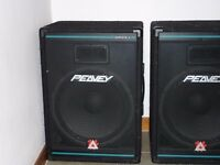 "Peavey Eurosys 3 Speakers, pink by in phase 2000W double 8"" subwoofer"
