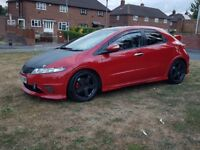 2006 06 Honda Civic 1.8 Vtec Petrol 5 Door Red