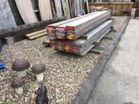 Reclaimed scaffold boards 13ft £12.00 each