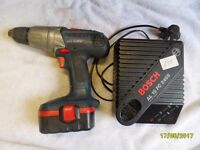 18v bosch cordless hammer drill and charger