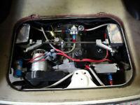 CB PERFORMANCE WEBER IDF DELLORTO DRLA SINGLE AIR CLEANER W// THROTTLE CABLE 3122