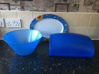 blue kitchen job lot