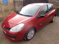 2006 Renault Clio Expression 1.4 Petrol 5 Door in Red FSH Low Miles Full MOT PART EXCHANGE TO CLEAR