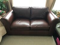 Laura Ashley two seat leather sofa