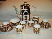 Royal Crown Derby coffee set. Old Imari 1124 pattern.