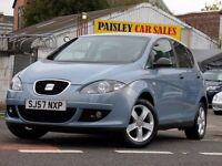 57 REG SEAT ALTEA REFERENCE SPORT 1.6cc 5 DOOR...Call PaisleyCarSales on 01418899200/Mob,07895607121