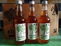 Truly fruity 100% pure apple juice 330ml x 24 bottles Free delivery
