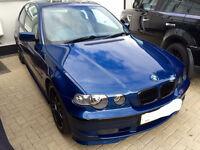 BMW 3 Series Compact 325Ti, Blue , Zender , 2.5 , 325 £1999