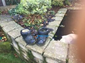 Pair of pot boots planters