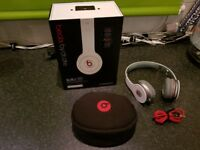 Beats solo HD headphones in white,As new