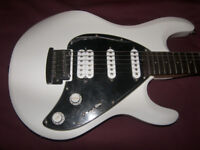 Sterling by Music Man , MusicMan S.U.B. SL-Silo 3 Electric Guitar. / White. / Never Used !
