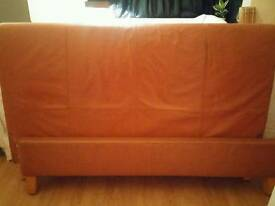 Leather kingsize bed with seely matress