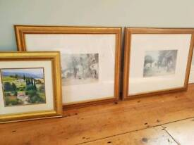 Picture frames and pictures could be used for upcycle