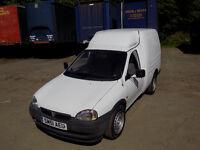 White Vauxhall Combo Van