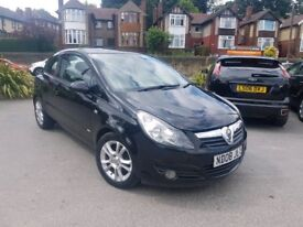 2008 VAUXHALL CORSA 1.2 SXI MANUAL 3 DOOR BLACK LONG MOT HPI CLEAR LOW MILEAGE MAY PX NOT ASTRA