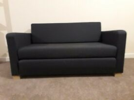 Navy/dark blue sifa bed/couch used but solid and good padding