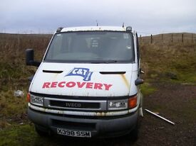 2000 Iveco Daily 65C15 Crewcab with Spec Lift for spares or repair or equipment