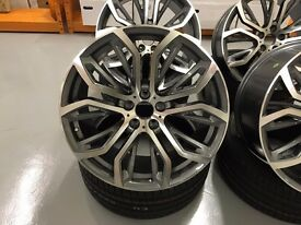 "21"" X5 X6 BMW M PERFORMANCE STYLED ALLOYS WHEELS RANGE ROVER SPORT VOGUE"