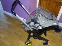 doona car seat, base and accessories