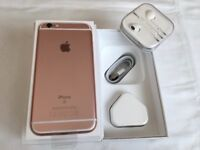 Apple iPhone 6S 16GB Rose Gold unlocked to all network in box for sale